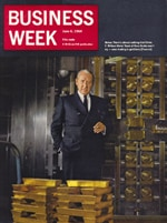 Click to enlarge - Frank William Nicks, Chief Executive Officer between 1958 and 1972, on the front cover of Business Week magazine, 06 June 1964.