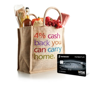 Get 4% Cash Back at grocery stores