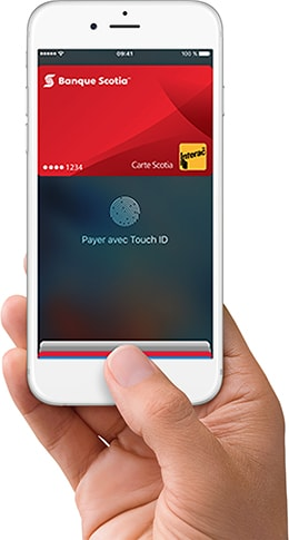 iPhone with Scotiabank Apple Pay