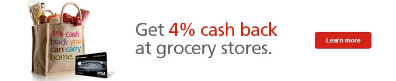 Get 4% cash back at grocery stores.