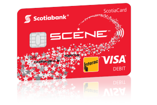 SCENE debit VISA card