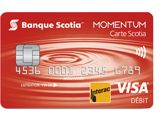 Photo de la carte Comptes-Chèques Momentum Scotia
