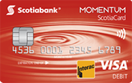 Scotiabank Momentum Chequing Account Card