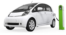 picture of white electric car
