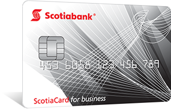 Scotiabank business card