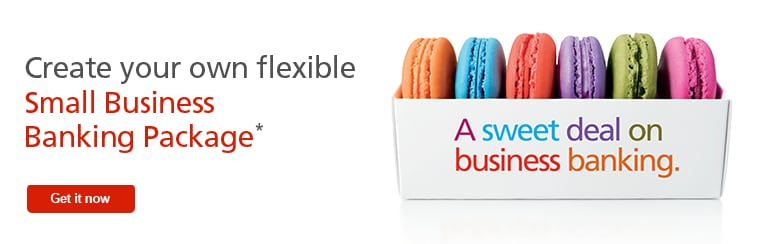 Create your own flexible Small Business Banking Package and save up to $2,000.*