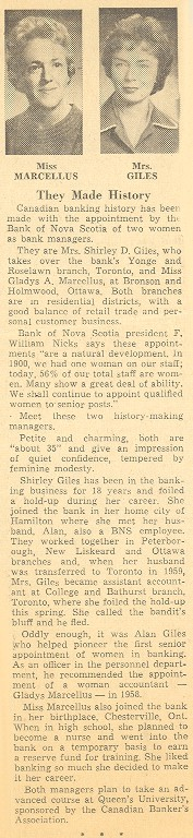 Newspaper clipping from the Financial Post Editorial, Post Scripts, 23 September 1961.