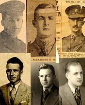 collage of soldiers from WW1 and WW2
