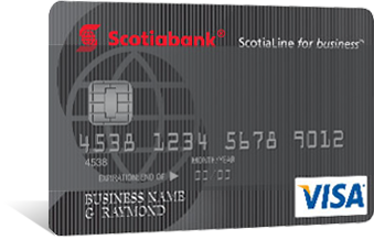 Scotialine For Business Visa Card