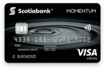 A photo of the Scotiabank Momentum Visa card