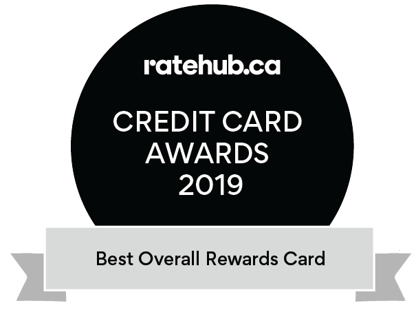 Best Overall Rewards Credit Card Award 2019 by Ratehub.ca