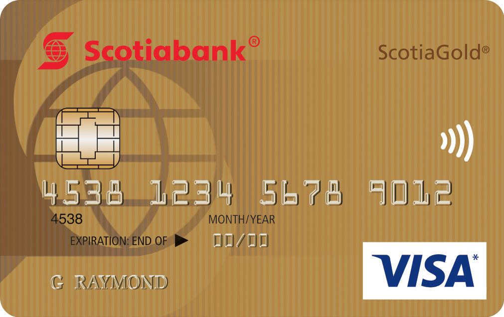 no fee scotiagold visa credit card