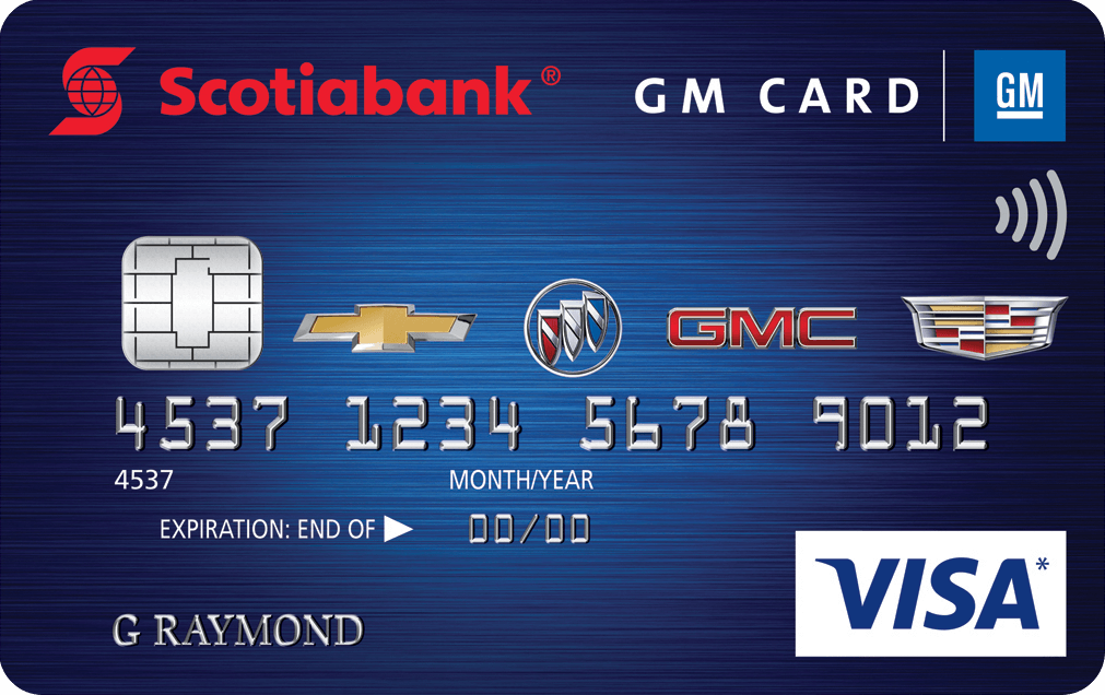 Gm Credit Card >> Scotiabank GM Visa Card