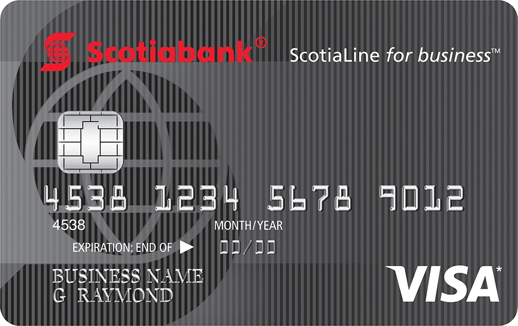 Scotialine for business visa credit card reheart Images