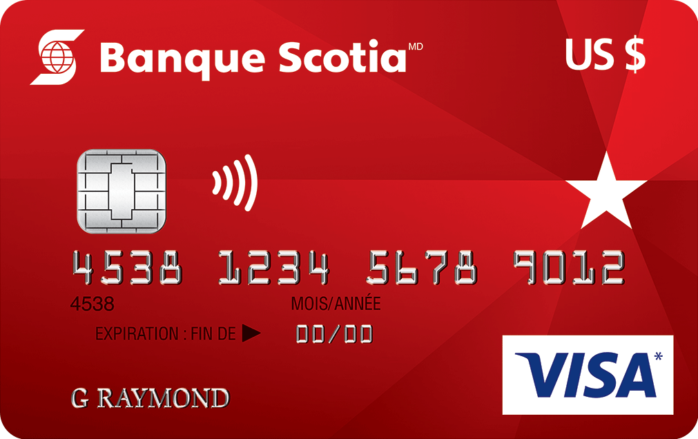 Carte Visa Banque Scotia en dollars US