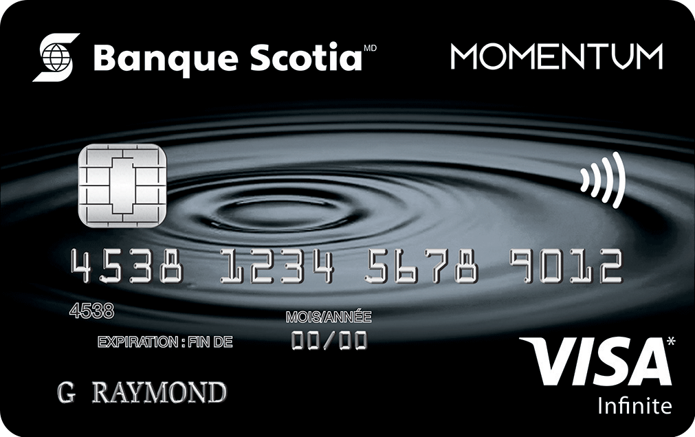 Carte Visa Infinite Momentum Scotia