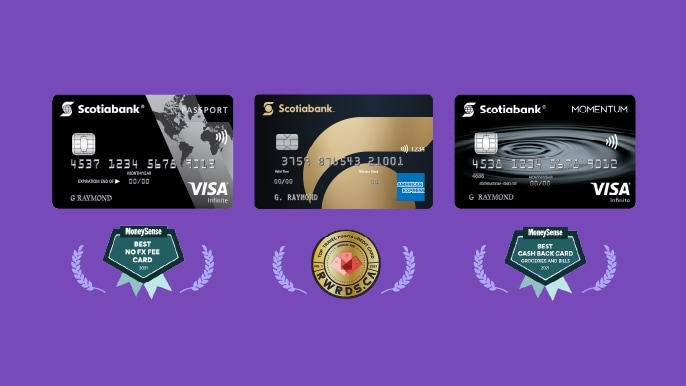 scotiabank award winning credit cards
