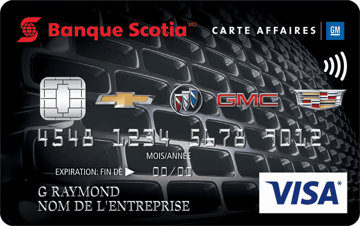 Carte Visa Affaires GM Banque Scotia