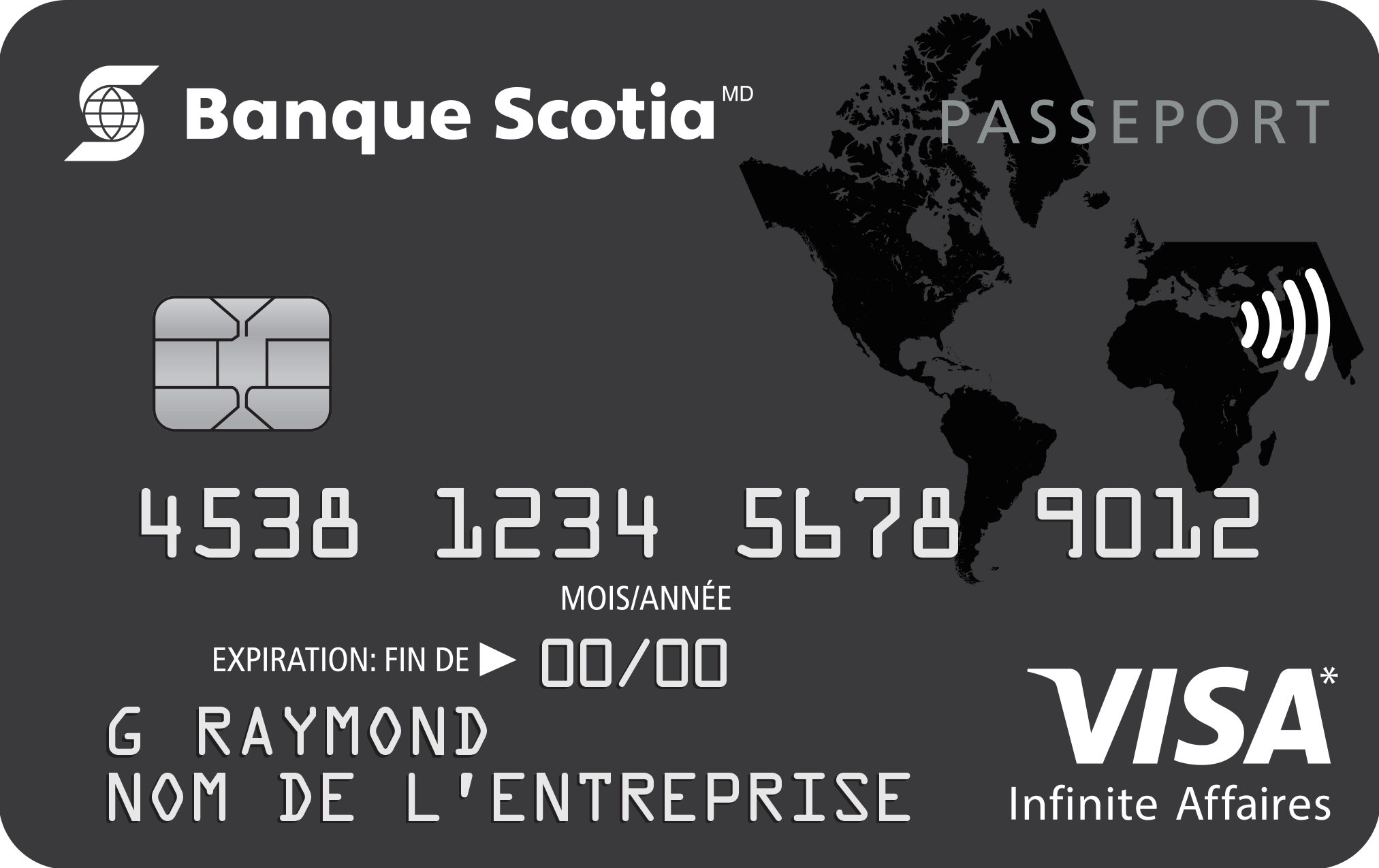 Carte Visa Infinite Affaires Passeport Banque Scotia
