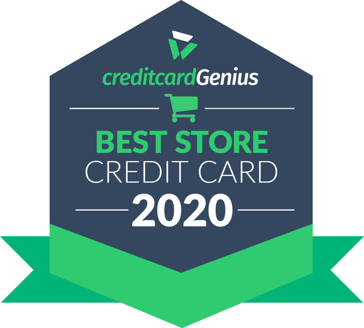 Winner of the 2020 CreditcardGenius Best Store Credit Card.