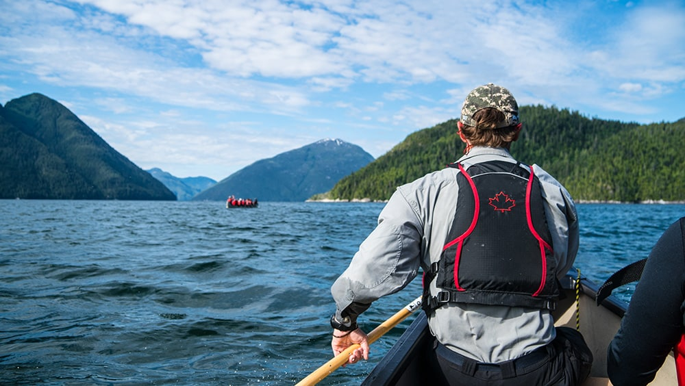 The Mackenzie expedition teams used ocean canoes