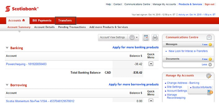 Scotiabank 401k online office reports