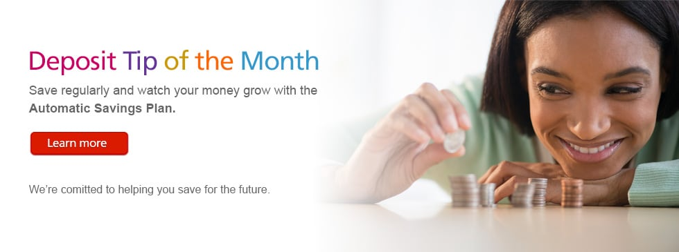 Deposit tip of the month