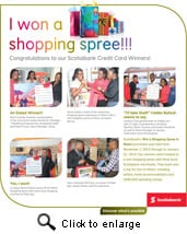Scotiabank's 2013 Win A Shopping Spree Winners Selected