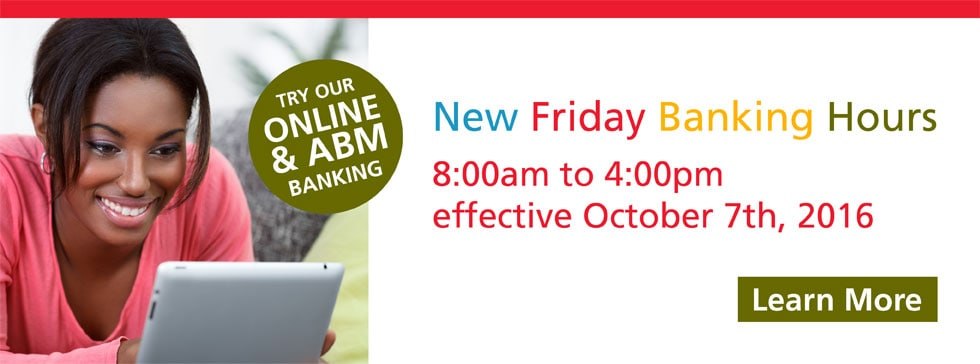 New Friday Banking Hours