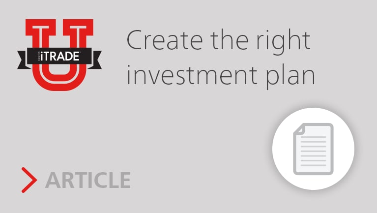 Create the right investment plan