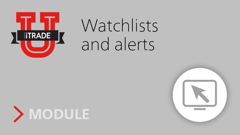 Watchlists and alerts