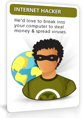 Internet Hacker - He'd love to break into your 